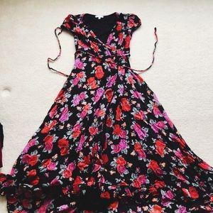 Dresses & Skirts - high-low mock wrap dress